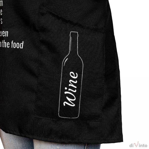 Kuchyňská zástěra pro milovnice vína