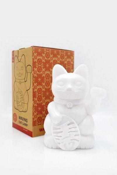 Mávající lampička - kočka