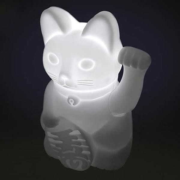 Mávající lampička – kočka