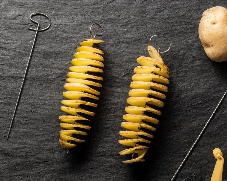 Spirálový kráječ brambor