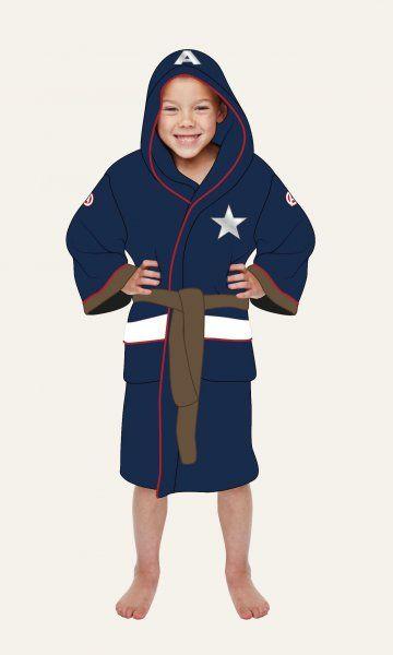 Dětský župan - Kapitán Amerika (univerzální pro děti 7 - 9 let)