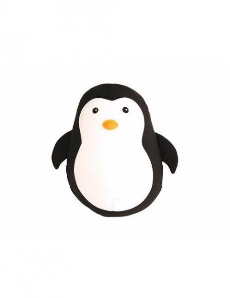 Oboustranný cestovní polštářek ve tvaru tučňáka