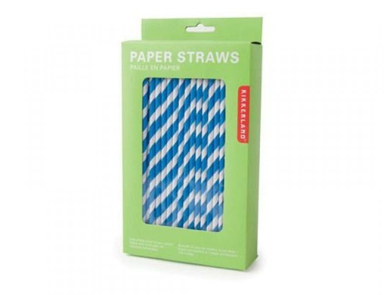 Papírová brčka - modrá