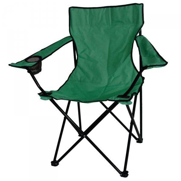 Rozkládací kempingová židle - zelená