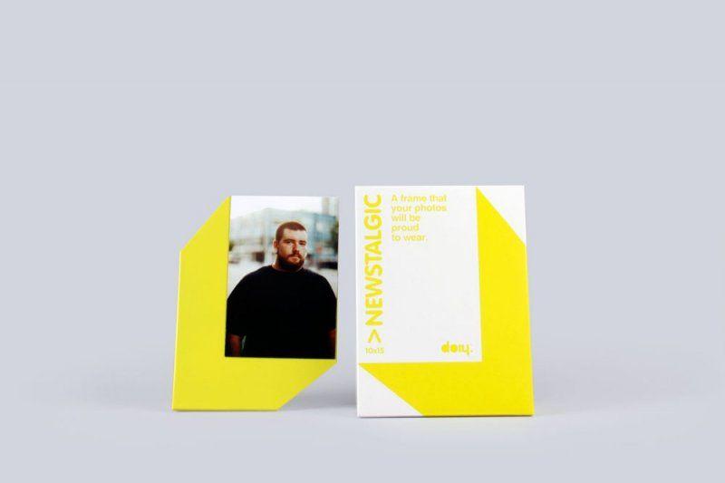 Stojánek na fotku s magnetem - 10 x 15, žlutá