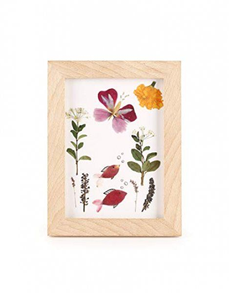 Dřevěný rámeček na lisované květiny