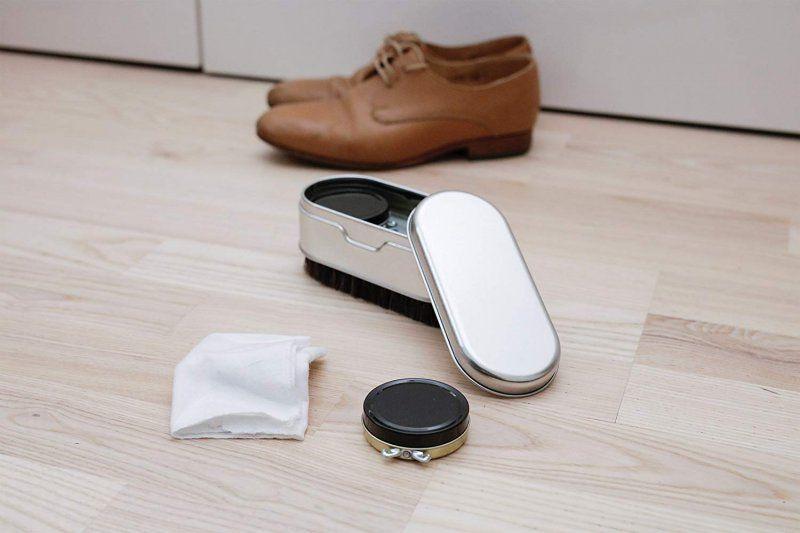 Cestovní sada na čištění bot