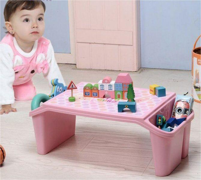 Jídelní stolek pro děti i dospělé - Růžová
