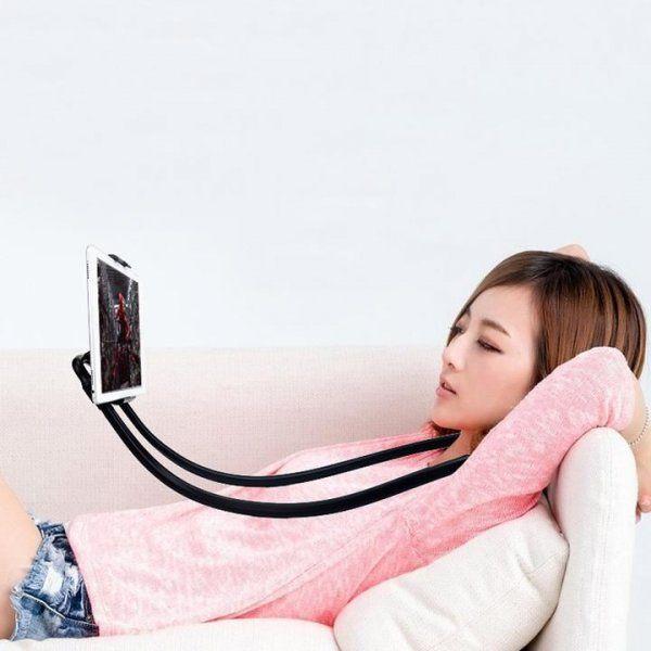 Líný držák na mobil - Růžová