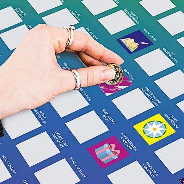 Stírací plakát - 100 aktivit pro děti