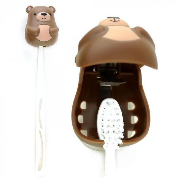 Držák na zubní kartáček - medvěd
