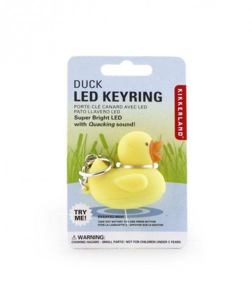 Přívěsek na klíče LED kachna