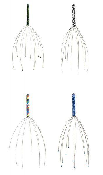 Vícebarevná pomůcka na masáž hlavy