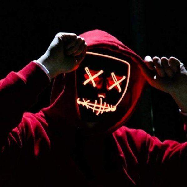 Maska se světelným efektem - The Purge - Žluto-oranžová