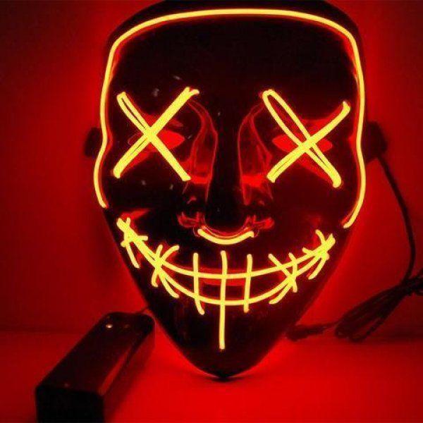 Maska se světelným efektem - The Purge - Oranžová
