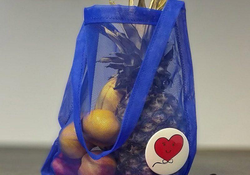 Sáčkovka taška nákupní – modrá