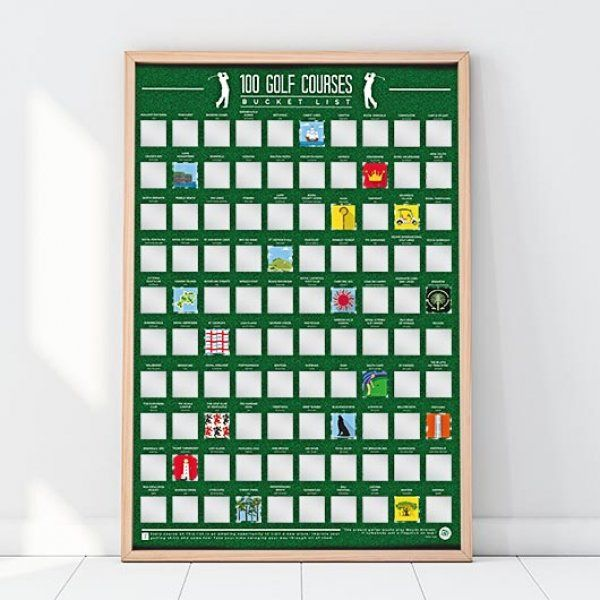 Stírací plakát - 100 úkolů na golfovém hřišti
