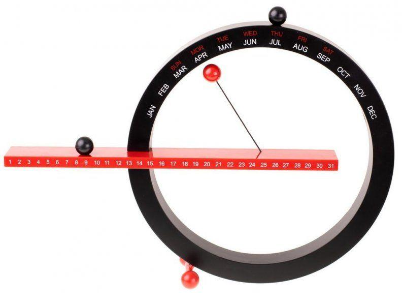 Magnetický věčný kalendář 365 - černočervený
