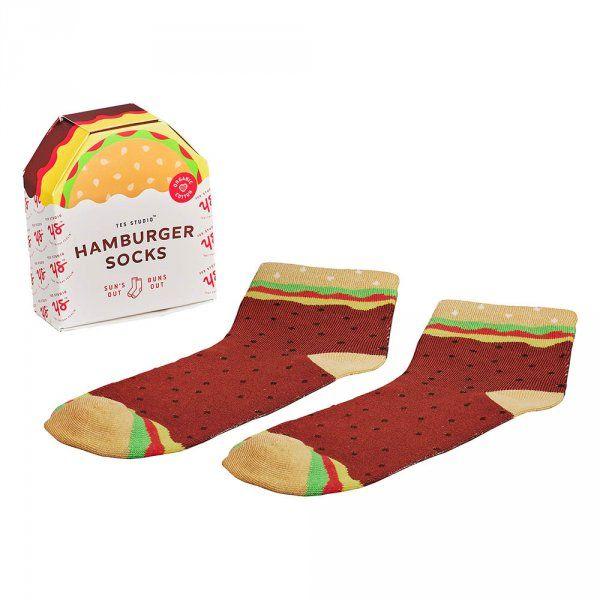 Ponožky- motiv hamburger
