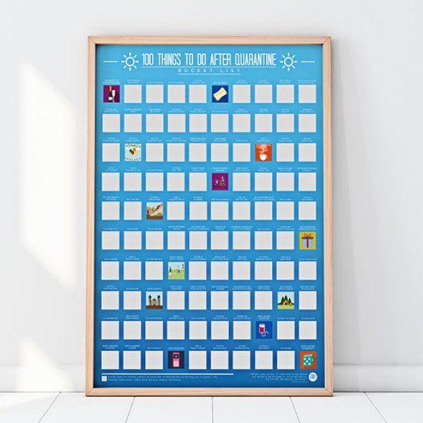 Stírací plakát – 100 věcí, které dělat po karanténě