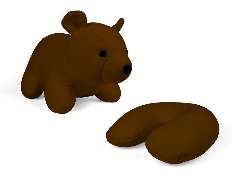 Oboustranný cestovní polštářek ve tvaru medvídka