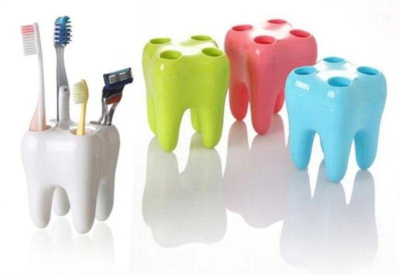 Zubní držák kartáčků, modrá