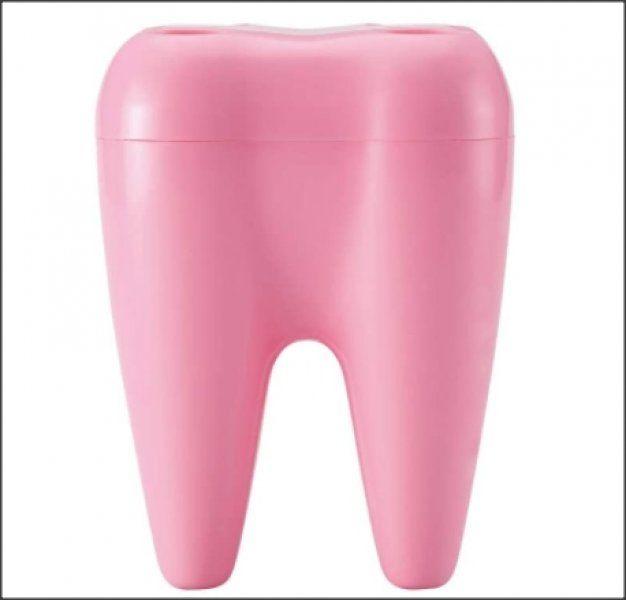 Zubní držák kartáčků, růžová