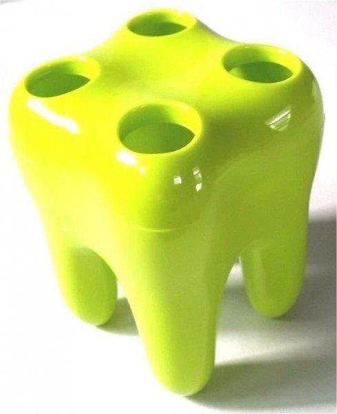 Zubní držák kartáčků, zelená