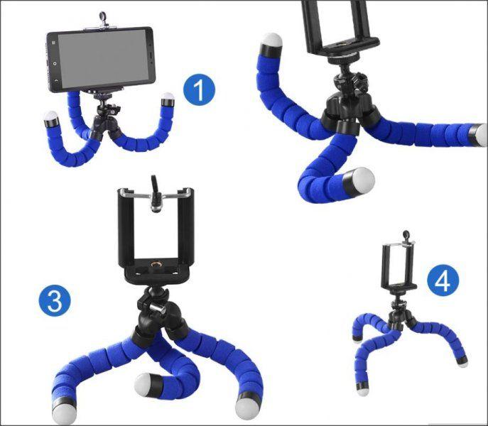 Ohebný stativ na smartphone nebo fotoaparát - černá