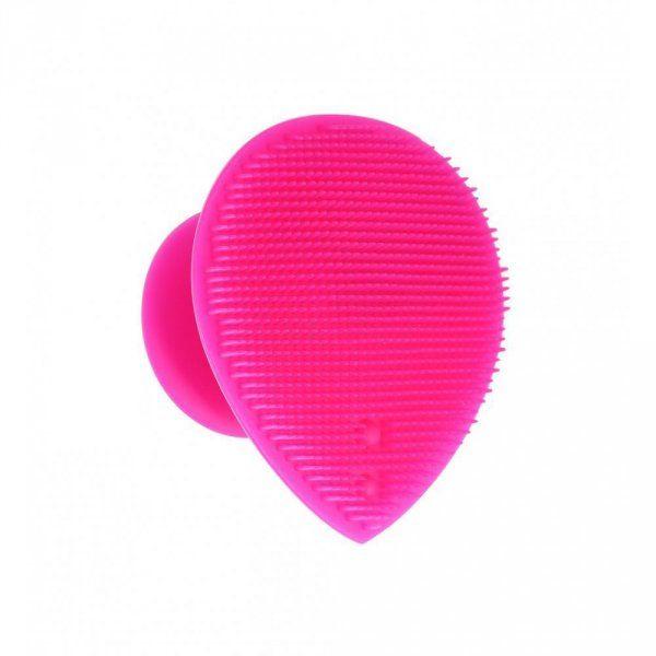 Silikonová houba na mytí a masáž obličeje - růžová