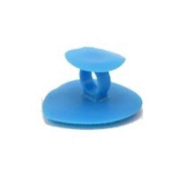 Silikonová houba na mytí a masáž obličeje - modrá