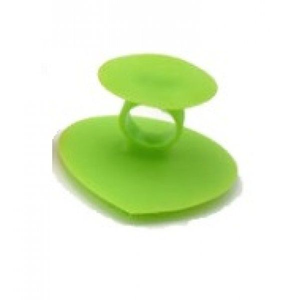 Silikonová houba na mytí a masáž obličeje - zelená