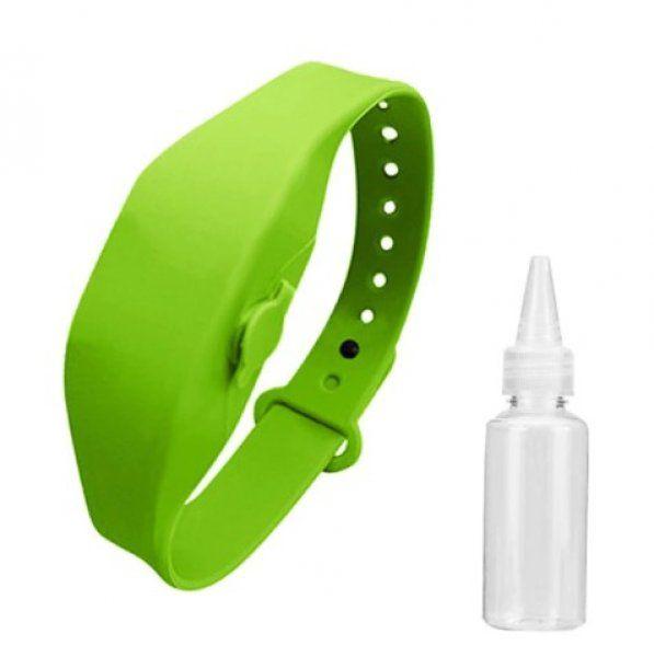 Náramek s prostorem na dezinfekční gel - Zelená