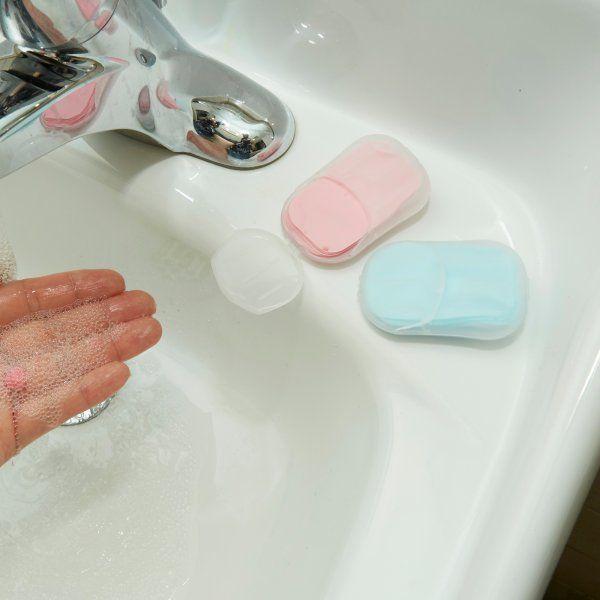 Cestovní papírové mýdlo - Bílá