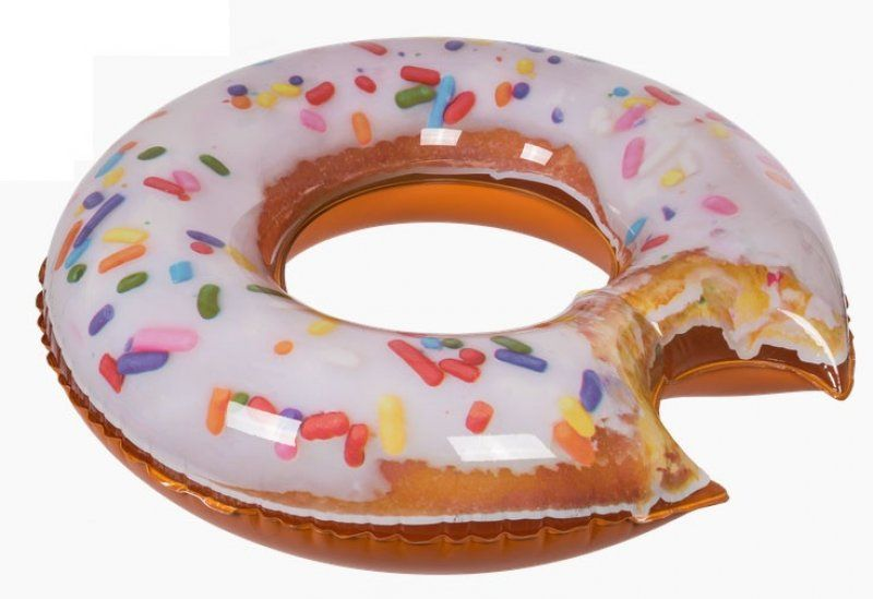 Nafukovací kruh nakousnutý Donut