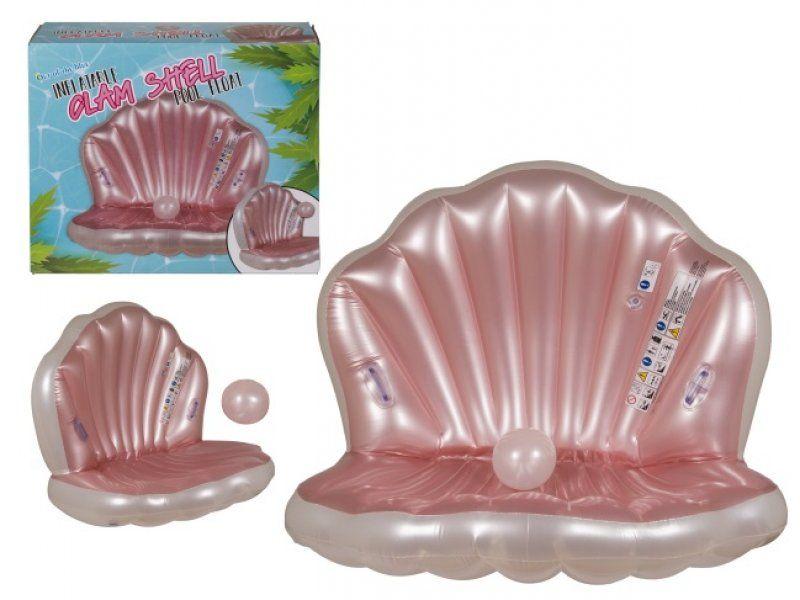 Nafukovací lehátko – mušle s perlou