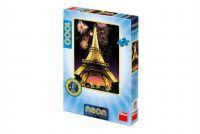 Puzzle Eiffelova věž svítící ve tmě 47x66cm 1000 dílků v krabici