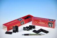 Domino společenská hra dřevo 28ks v krabičce 15,5x3,5x5cm
