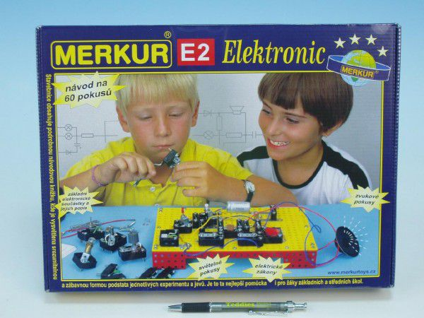 MERKUR E2 elektronic Stavebnice v krabici 36x27x6cm