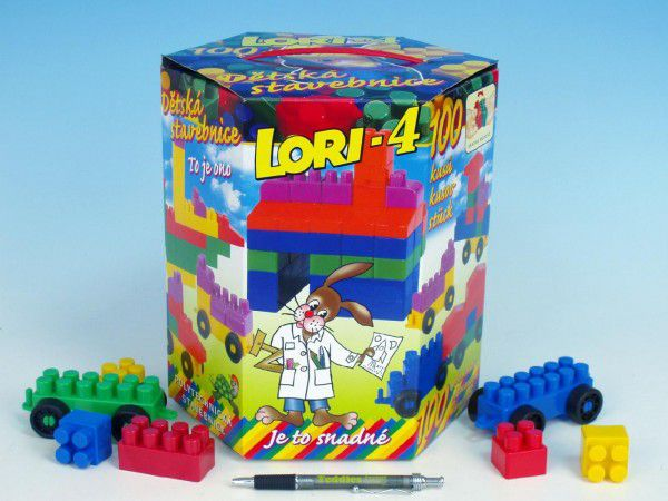 LORI Stavebnice plast 100ks v krabici 23x25x20cm