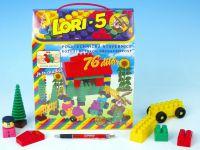 Stavebnice LORI 5 plast 76ks v krabici 23x28x10cm