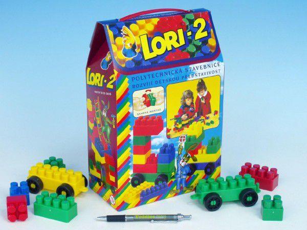 LORI 2 Stavebnice plast 3v krabici 19x28x10cm