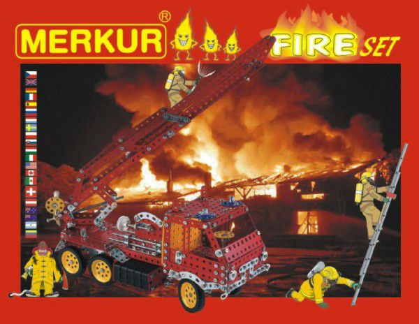MERKUR FIRE Set Stavebnice 20 modelů 708ks 2 vrstvy v krabici 36x27x5,5cm