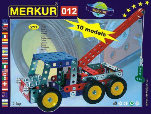 MERKUR Odtahové vozidlo 012 Stavebnice 10 modelů 217ks v krabici 26x18x5cm