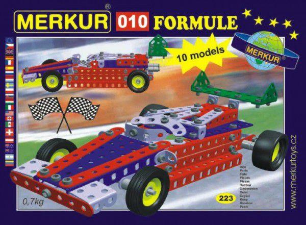 MERKUR Formule 010 Stavebnice 10 modelů 223ks v krabici 26x18x5cm