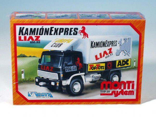 Stavebnice Monti 28 Kamionexpres Liaz 1:48 v krabici 22x15x6cm