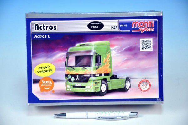 Stavebnice Monti 53 Tahač Actros L-MB 1:48 v krabici 22x15x6cm