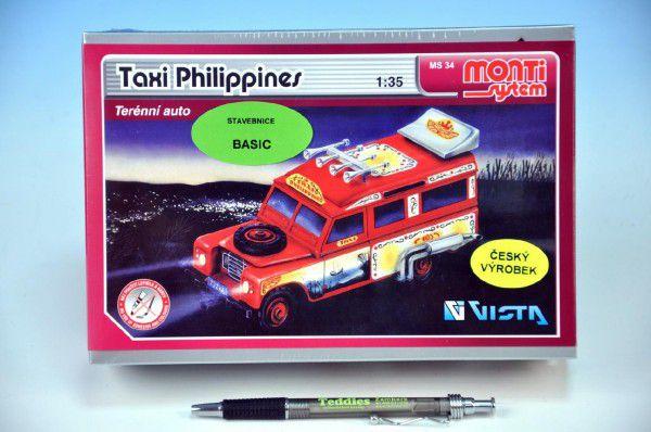 Stavebnice Monti 34 Taxi Filipini 1:35 v krabici 22x15cm