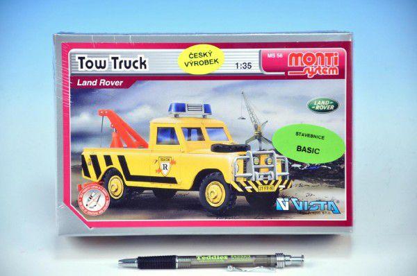 Stavebnice Monti 56 Tow Truck Land Rover 1:35 v krabici 22x15x6cm