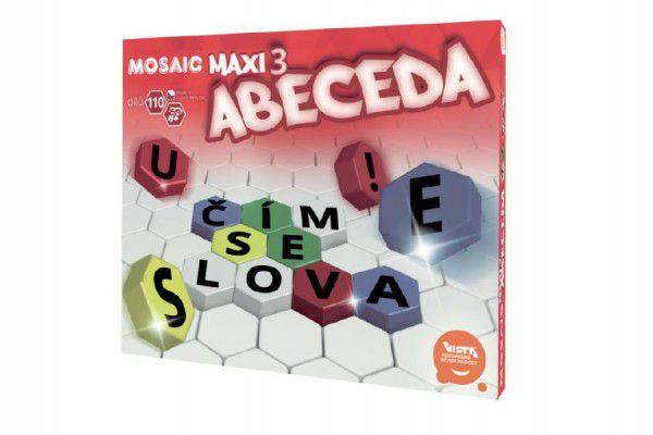 Vista Mozaika Maxi/3 Abeceda 110ks v krabici 35x29x7,5cm 4+